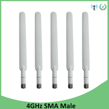 5pcs 4G lte antenna 5dbi SMA Male Connector Plug antenne for huawei b593 4G LTE router external repeater wireless modem antennas недорого
