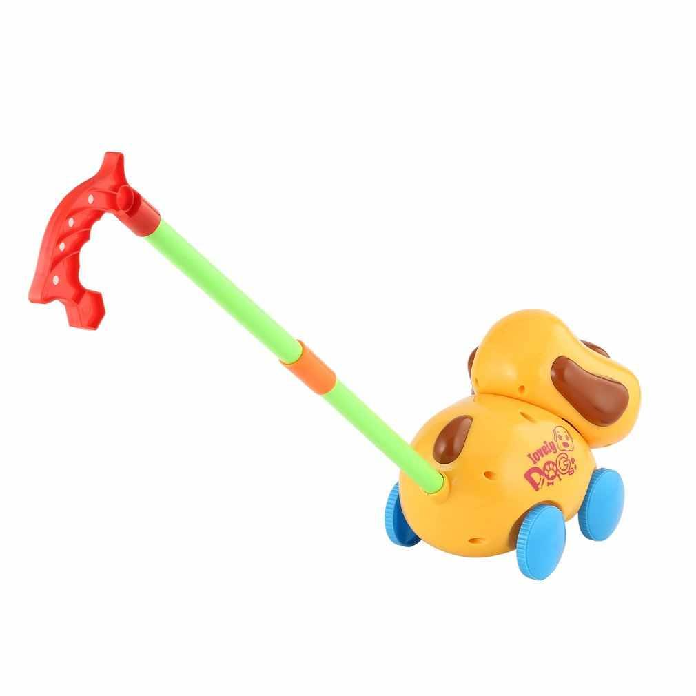 OCDAY ของเล่นสำหรับเด็ก Hand PUSH ดึงเดินการ์ตูนสัตว์ Cart ของเล่น SINGLE Rod มือผลักดันของเล่นของขวัญเด็กเดิน