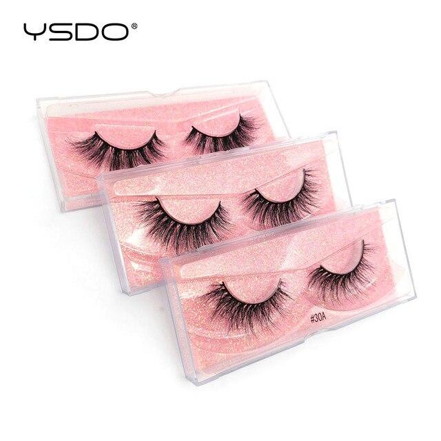 YSDO 1 Pair 3D Mink EyeLashes Natural Hair Long Lashes winged EyeLashes Dramatic Lashes Thick Mink False EyeLashes Fluffy Lashes 3
