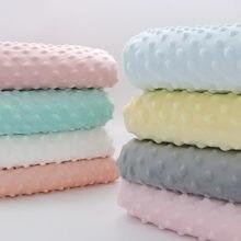 Feijão de pelúcia curto veludo 100% poliéster macio minky tecido para diy bebê recém-nascido cama colcha almofada roupas folha cobertor brinquedo