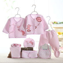 цена на Winter Newborn Baby Girl Boys Clothes Set Thicken Cotton Infant Clothing Underwear Suit 0-3 Months