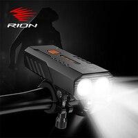 RION Radfahren Bike Licht USB Aufladbare MTB Fahrrad Front Lichter Wasserdichte Fahrrad Lampe Taschenlampe 6 Modi Luz Bicicleta