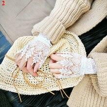 Манжеты Поддельные рукава свитер декоративные рукава Воланы застегнутые на запястье рукава сексуальные модные женские рукава платье Высокое качество