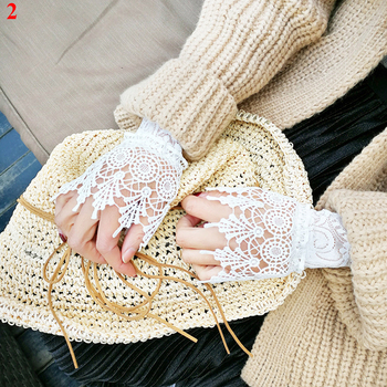 Cuff Fake Sleeves Sweater Decorative Sleeves Flounces Buttoned Wrist Sleeves Sexy Fashion Women Sleeves Dress High Quality фото