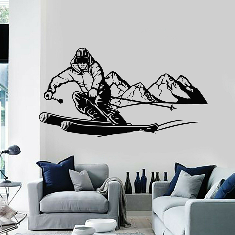 Snowboarder Vinyl Wall Car Decal Sticker Décor Kids Room Extreme Sports Sking