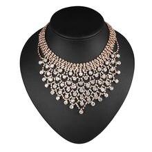 Свадебные ожерелья CORUIXI, аксессуары для вечерние, роскошные свадебные украшения, блестящие стразы, Женская мода на выпускной H93116