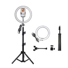 Photography light ring fill light 10 inch for camera selfie led camera light phone tiktok youtobe makeup with stand(China)