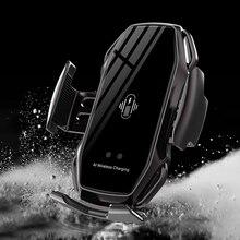 10W Wireless Car Charger Snelle Qi Draadloos Opladen Voor Iphone 11 Pro X Xs Xr 8 Voor Samsung S9 s10 Automatische Spannen Auto Houder