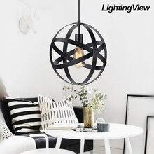 Vintage colgante esférico Metal colgante lámpara para cocina comedor entrada vestíbulo de mesa
