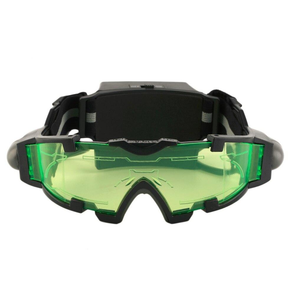 Bereit Lager 1Pcs Nachtsicht eyeshield Grün Schutzbrillen Objektiv Weltweit Grün Sicherheit Schutz Einstellbare Elastische Nacht Gläser