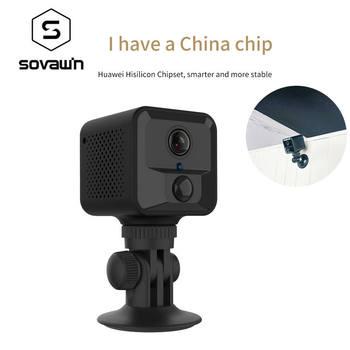 SOVAWIN HD 1080P Micro Mini Camera Wireless Web Video Camera PIR Human Induction Night Vision Wireless Surveillance Camera ABS 1
