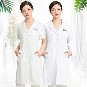 Summer thin salon beautician work clothes plastic dress short sleeves - DISCOUNT ITEM  0 OFF All Category