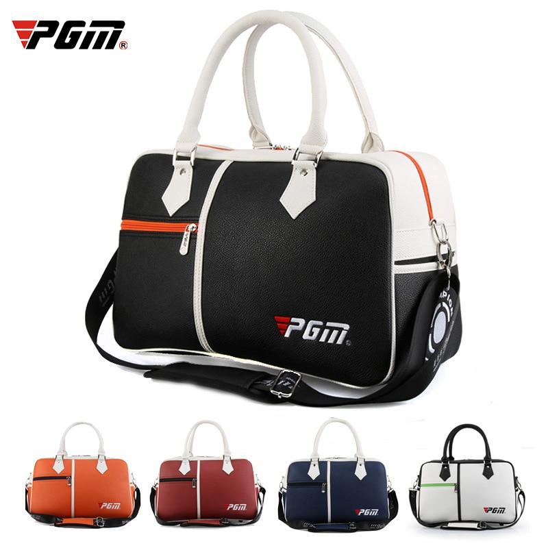 1 Pcs Golf Clothing Bag PGM Men's And Women's PU Ball Bag Cross Body Shoulder Bag Large Capacity Ultra Light And Portable
