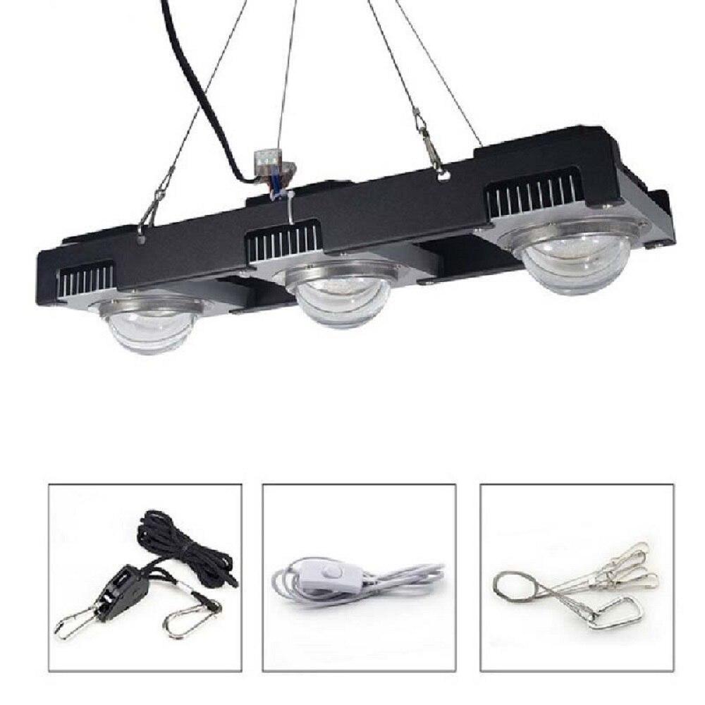 LED élèvent la lumière Full Spectrum 100W 200W 300W COB Usine LED élèvent la lampe pour plantes d'intérieur Fleurs serres hydroponiques élèvent la tente
