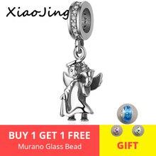 Trendy New 100% 925 Sterling Silver Angel Dangle Bead Fit Original pandora Charm Bracelet diy fine Jewelry Gift free shipping
