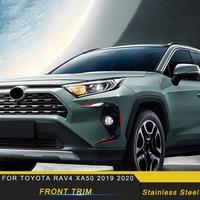 For Toyota Rav4 Rav 4 XA50 2019 2020 Car Front Side Cover Frame Decoration Chrome Trim Sticker Exterior Accessories