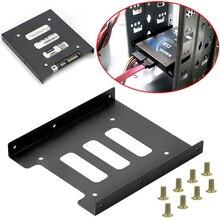Полезный 2,5 дюймов SSD HDD до 3,5 дюймов металлический монтажный адаптер Кронштейн Док-станция 8 винтов держатель для жесткого диска для ПК корпус жесткого диска