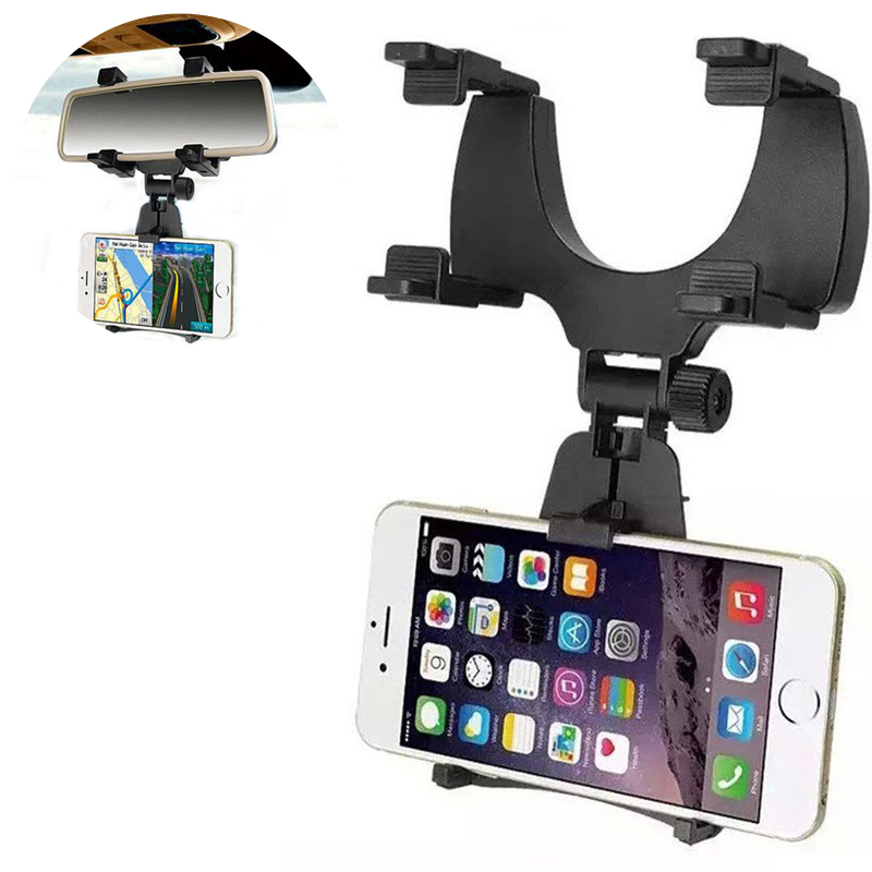 Universal Adjustable Car Auto Phone Holder Bracket Rack Support GPS Rearview Mirror Holder For  Iphone 11 Samsung Huawei Xiaomi