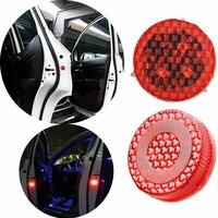 Luz LED roja para puerta de coche, luces de Flash de advertencia, a prueba de agua, luz de señal anticollid