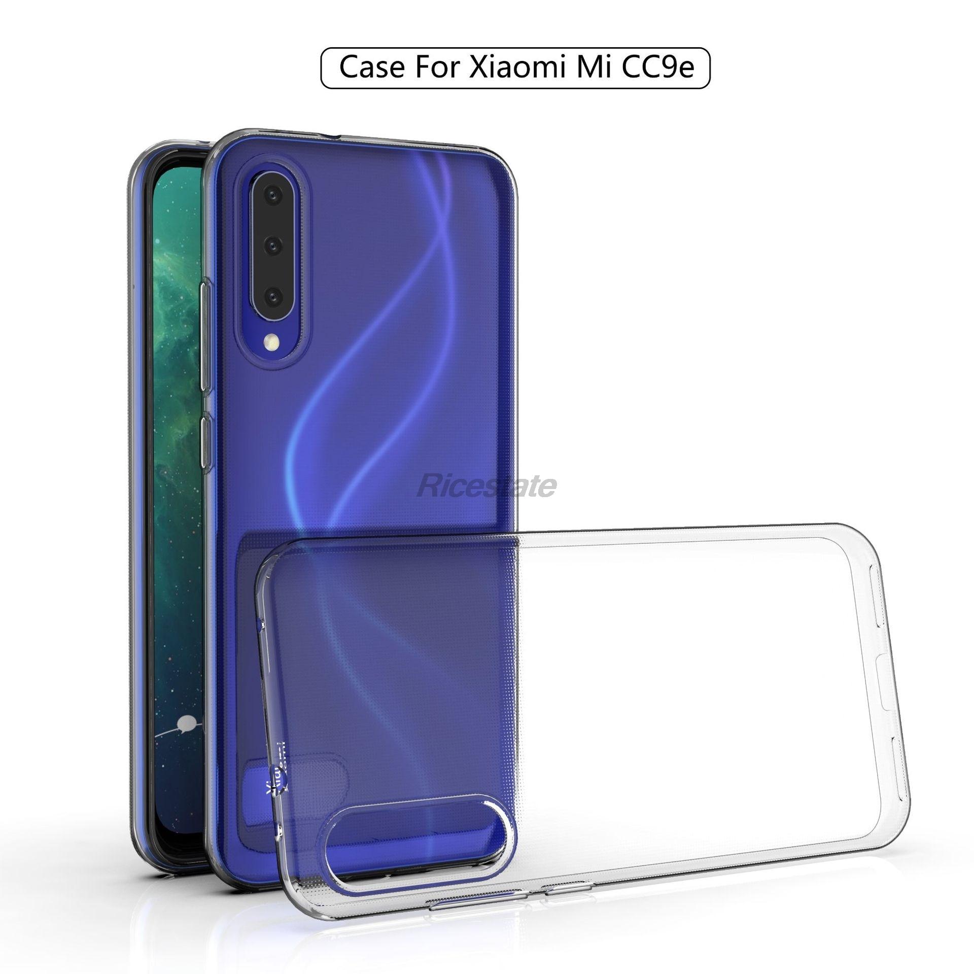 Xiaomi Mi CC9E Ultra-Thin Clear Case For Xiaomi CC 9E Transparent Soft Silicone TPU Phone Case Cover Xiaomi Mi A3 Clear Case