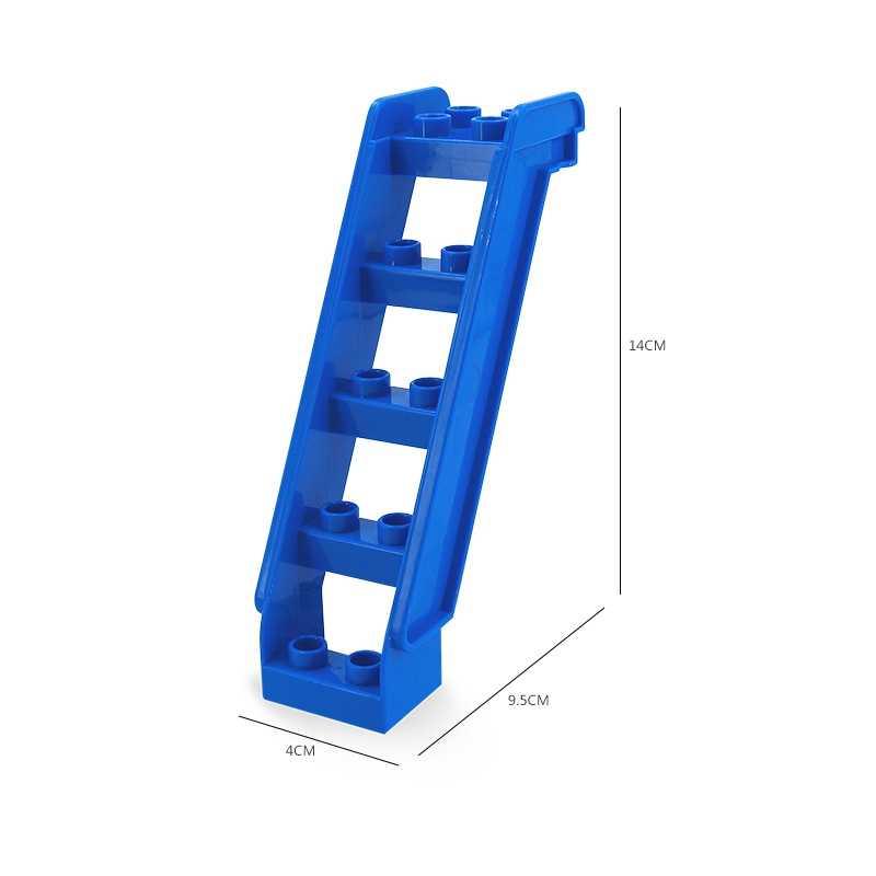 Construção de tijolos bloqueio duplo blocos acessórios quatro-buraco plataforma giratória escadas balanço artilharia diy lockings duplo brinquedos para crianças