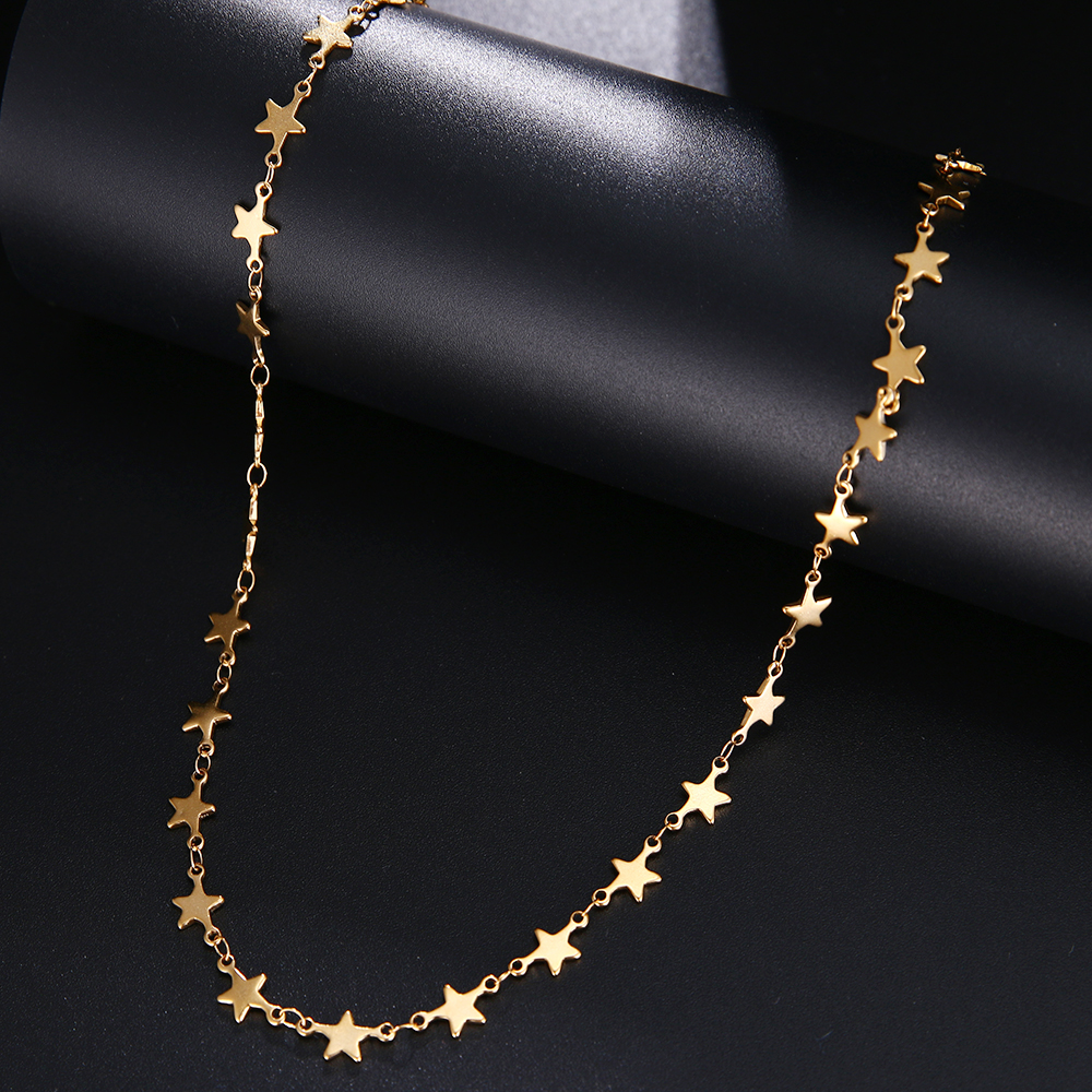 CACANA Stainless Steel Chain Necklace For Man Women Gold Silver Color For Pendant Pentagram Donot Fade Jewelry N1926