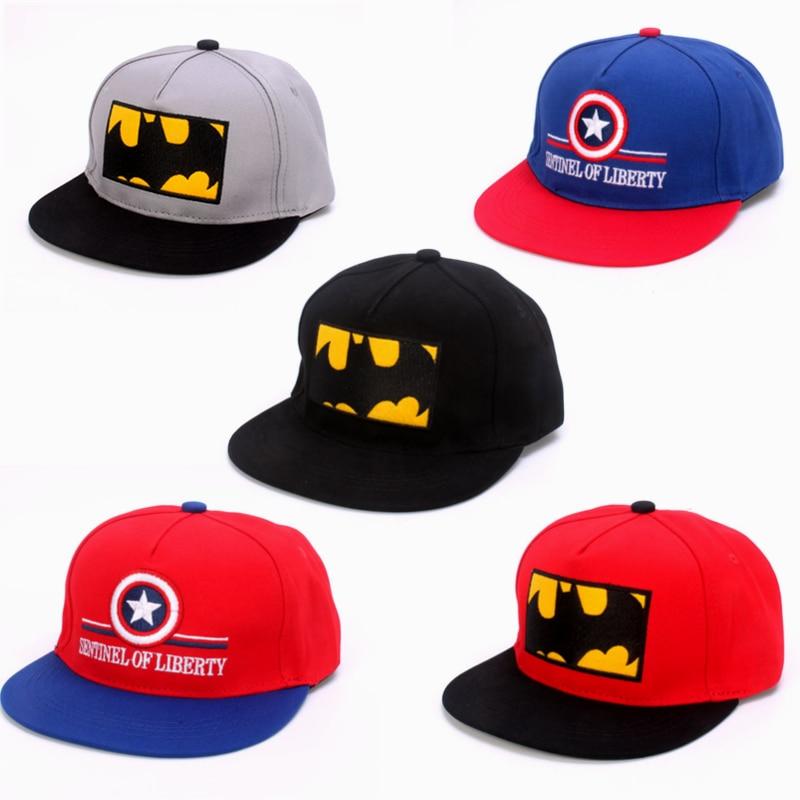 Children Mesh Baseball Cap Cartoon Captain America Snapback Boy Girl Hip Hop Hat