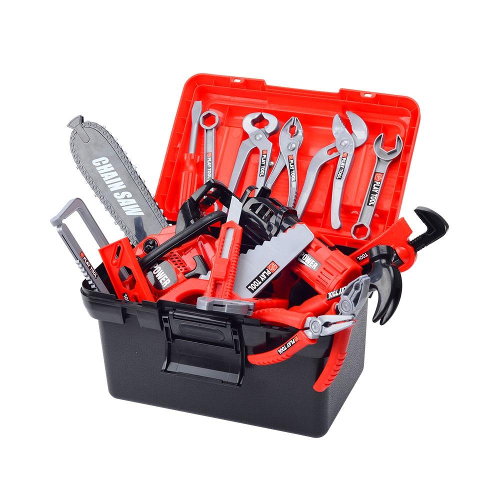 Kids Toolbox Kit Toys For Boy Children Pretend Play Set Simulation Repair Tool Drill Screwdriver Repair House Play Toys Tool Set