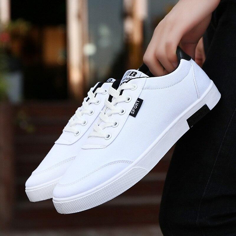 Fashion Men's Casual Shoes Canvas Shoes Men Breathable Casual Canvas Leisure Shoes Men Shoes Walking Men's Flats Shoes