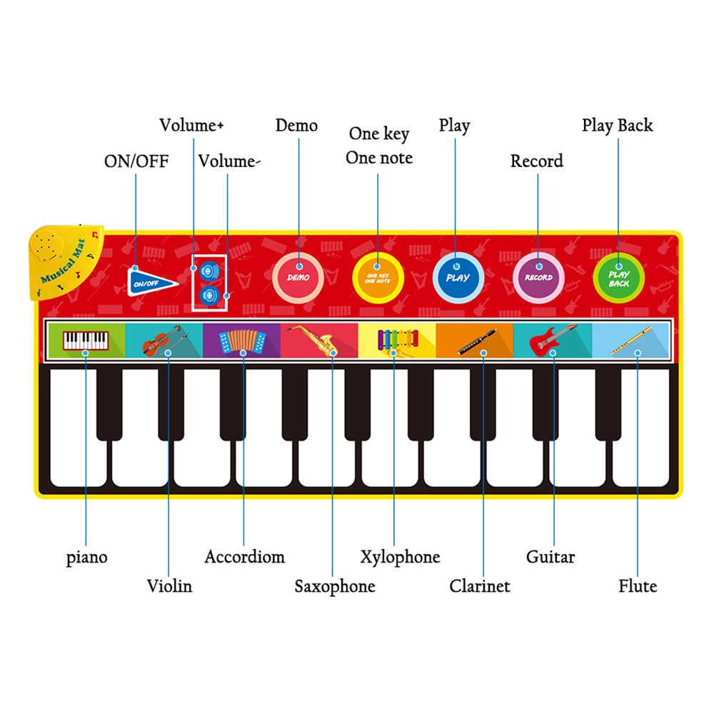 Ukuran Besar Musik Mat Bayi Bermain Piano Mat Keyboard Mainan Alat Musik Permainan Karpet Musik Mainan Pendidikan Mainan untuk Anak hadiah