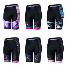 Miloto short de ciclismo acolchoado coolmax 5d, calções esportivos femininos anti impacto para ciclismo e bicicleta mtb e de estrada
