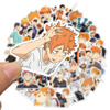 50Pcs/Set Haikyuu!! Stickers Japanese Anime Sticker Volleyball for Decal on Guitar Suitcase Laptop Phone Fridge Motorcycle Car