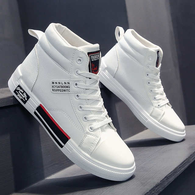 ADMAR High Top Shoes Men Fashion Breathable Casual Shoes Daily White Shoes Classic Wear Resitant gym shoes Men Hip Hop Sneakers 1