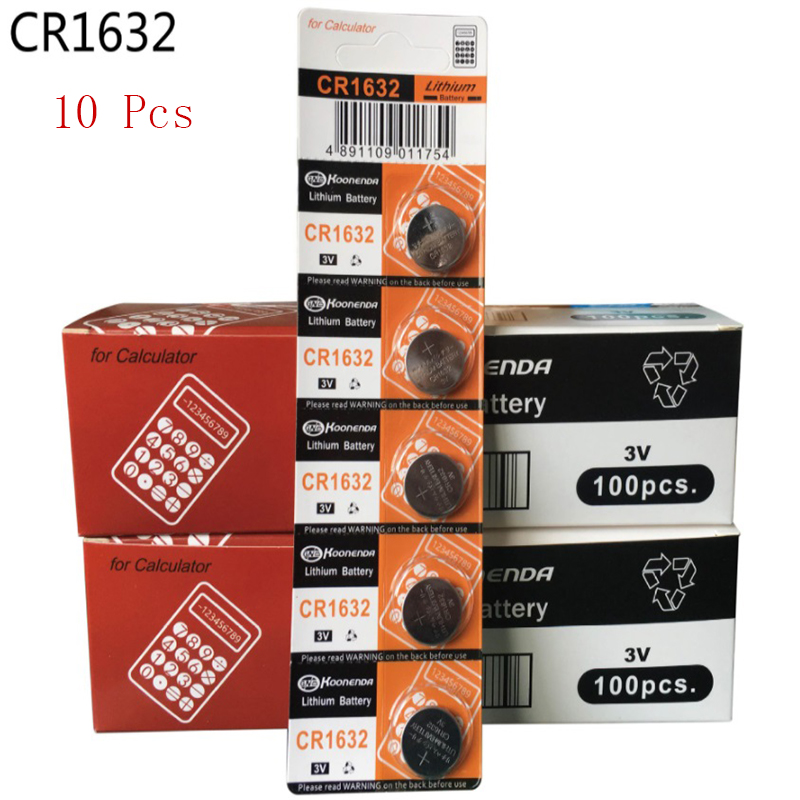 10 шт. CR1632 1632 DL1632 3V литиевые батареи кнопка сотового телефона монета Батарея калькулятор игрушка медицинские батареи