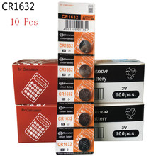 10Pcs CR1632 1632 DL1632 3V Lithium Batteries Cell Button Coin Battery Calculator Toy Medical Batteries