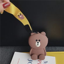 Portable 3D Cartoon Soft Storage Bag Mini Box For Earphone Earbuds SD TF Card Holder Cute Silicone Women Coin Purse Small Wallet