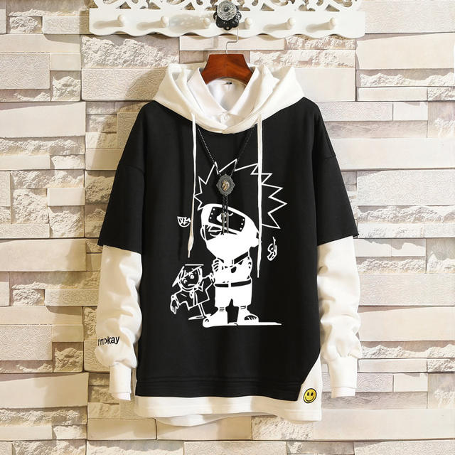 NARUTO THEMED PULLOVER HOODIE (10 VARIAN)