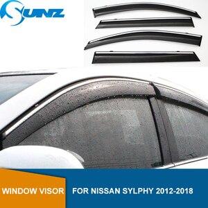 Image 1 - רכב דלת עבור ניסן SYLPHY 2012 2018 צד חלון deflectors עבור ניסן SYLPHY 2012 2013 2014 2015 2016 2017 2018 SUNZ