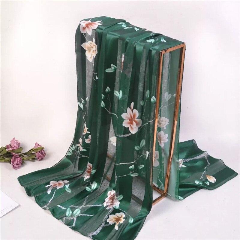 2019 Free Shipping Summer Women Scarf Soft Silk Scarves Female Chiffon Shawl Foulard Beach Cover-ups Wraps Ladies Bandana Pareo