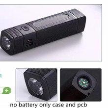 Banco de energía DIY 1 18650, caja de batería con linterna LED con brújula, Cargador USB para teléfono inteligente, dispositivos USB