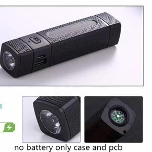Image 1 - 전원 은행 DIY 1 18650 배터리 케이스 LED 손전등 나침반 USB 충전기 스마트 전화 USB 가제트