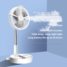 Fan Cooling-Air-Conditioner-Humidifier Water-Spray-Mist-Fan Electric Rechargeable USB
