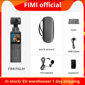 FIMI PALM Kamera 3-Achsen 4K HD Handkardan Kamera Stabilisator 128 ° Weitwinkel Smart Track integrierte WiFi-Steuerung