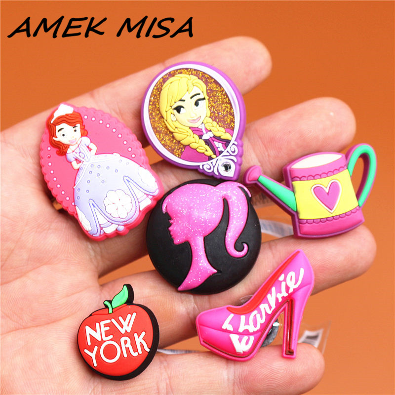 Single Sale 1pcs Original Shoe Charms Sofia And Anna Princess Garden Shoe Accessories Decorations Fit For Croc JIBZ Kids Gifts