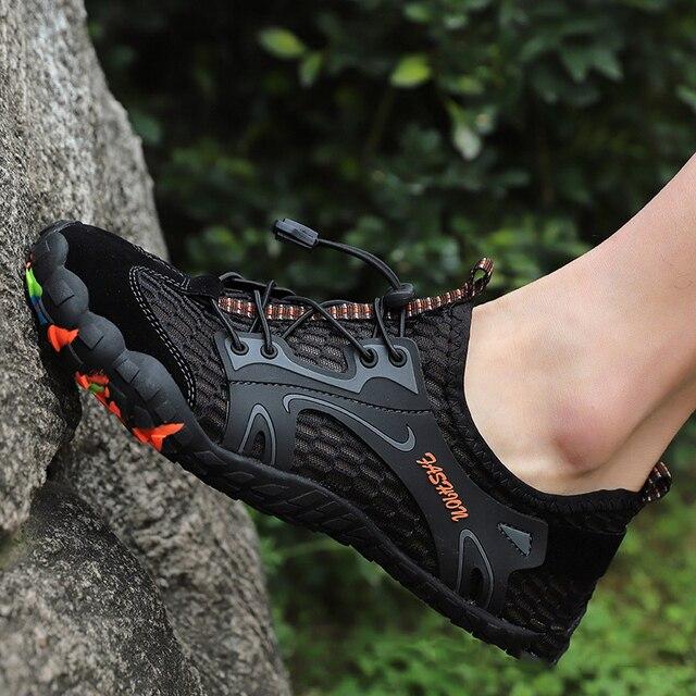 Merkmak Summer Men Sandals Breathable Quick Dry Sandal Outdoor Rubber Outsole Men's Beach Water Shoes Sandale Homme Big Size 46