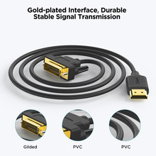 QGeeM Cable HDMI a DVI Adaptador HDMI DVI bidireccional para Xiaomi Xbox Series X PS5 PS4 TV Box Chromebook Laptops Tablets Notebook Cable digital 1080P Male to Male DVI a HDMI Splitter DVI-D 24 + 1 Cord Cables