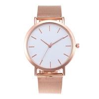 CAW012 Women Ladies Stainless Steel Mesh Band Wrist Watch Girl Fashion Wedding Quartz Clock Fashion Wrist Watch