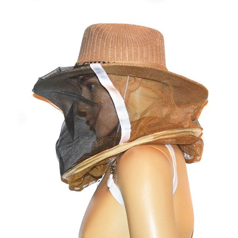 Beekeeper Anti-bite Hat With Face Protective Net Thickened Anti-bee Mask Cap Head Covering Hat For Beekeeping