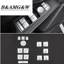 Car Window Glass Lift Button Sticker For Mercedes Benz A B C E GLA CLA GLK GL ML GLE Class