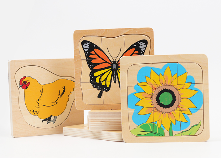 Tender Leaf Toys Butterfly Life Layered PuzzleWooden PuzzleMulti Layered